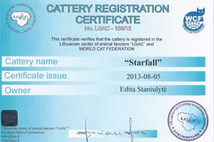 Cattery Certificate - 14